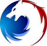 Akcyjna loga wilka kurenda royalty ilustracja
