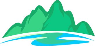 Akcyjna logo góry rzeka Obraz Royalty Free