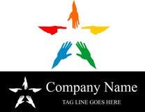 Akcyjna logo ręki gwiazda kolorowa Fotografia Royalty Free