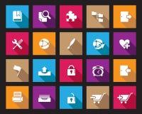 Akcyjna Wektorowa Colourful Kwadratowa sieć i biurowe ikony z cieniem w wysoka rozdzielczość Zdjęcie Royalty Free
