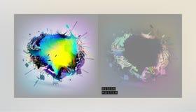 Akcyjne wektorowe ilustracyjne kolor pokrywy ustawiać Chaosu skład Futurystyczni projektów plakaty Szablony dla plakatów, sztanda Fotografia Royalty Free