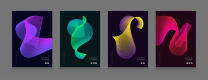 Akcyjne wektorowe ilustracyjne kolor pokrywy ustawiać Futurystyczni projektów plakaty Szablony dla plakatów, sztandary, ulotki, p Obraz Royalty Free