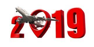 Akcyjnego fotografii linii lotniczej podróży pojęcia pointeru nowego roku znaka d lotniskowy odpłacać się royalty ilustracja