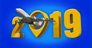 Akcyjnego fotografii linii lotniczej podróży pojęcia pointeru nowego roku znaka d lotniskowy odpłacać się ilustracja wektor