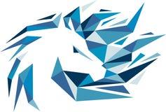 Akcyjnego loga koński kolorowy abstrakt Zdjęcia Stock