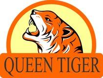 Akcyjnego loga tygrysi poryk ilustracja wektor