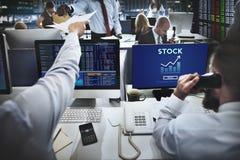 Akcyjnej inwestyci bankowości biznesu Handlowej wymiany pojęcie Zdjęcie Stock