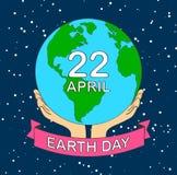 akcyjnej wektorowej kreskówki ziemi planety ilustracyjny uśmiech ziemski dzień c zdjęcie stock
