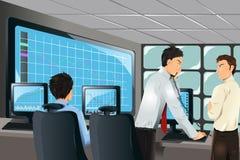akcyjni handlowowie ilustracji