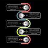 Akcyjny abstrakcjonistyczny biznesowy infographics szablon obraz royalty free