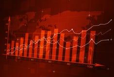 Akcyjny Finansowy diagram Fotografia Royalty Free