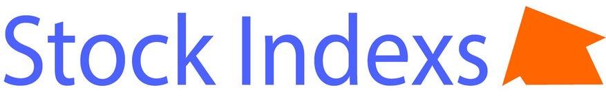 Akcyjny Indexs logo, szablon i ilustracja wektor