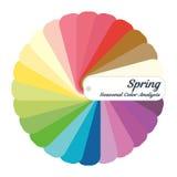 Akcyjny koloru przewdonik sezonowa kolor analizy paleta dla wiosna typ Typ żeński pojawienie ilustracja wektor