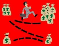Akcyjny loga biznesmen biega sukces Obraz Royalty Free