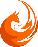 Akcyjny loga lisa kurendy element Zdjęcia Stock