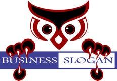 Akcyjny logo głowy sowy ptak Obraz Stock