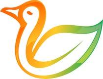 Akcyjny logo kaczki colorfull Zdjęcia Royalty Free