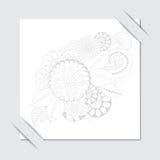 Akcyjny papieru cięcie z kwiecistym wzorem Czarny i biały backg Fotografia Stock