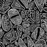 Akcyjny wektorowy bezszwowy kwiat, doodle wzór abstrakcjonistycznej sztuki backg royalty ilustracja