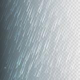 Akcyjny wektorowy ilustracja deszcz, opady deszczu Odizolowywający na przejrzystym tle Ulewa, ulewny deszcz, opady deszczu, dżdża Obrazy Royalty Free