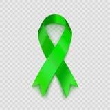 Akcyjny wektorowy ilustracyjny wapno zieleni faborek Odizolowywający na przejrzystym tle Non-Hodgkin lymphoma świadomość EPS10 Obraz Stock
