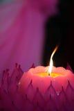Akcyjny wizerunek świeczki z miękkim tłem Fotografia Stock