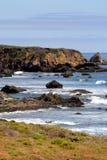 Akcyjny wizerunek Kalifornia centrali wybrzeże, Duży Sura, usa Zdjęcia Stock