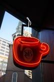 Akcyjny wizerunek sklep z kawą znak Zdjęcia Stock