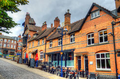 Akcyjny wizerunek Stara architektura w Nottingham, Anglia Obrazy Royalty Free