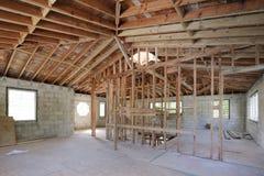 Akcyjny wizerunku domu wnętrze w budowie Obrazy Royalty Free