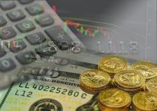Akcyjny wykres, inwestuje na rynku papierów wartościowych Obraz Stock