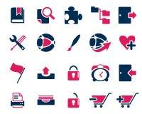 Akcyjnych wektor menchii błękitna sieć i biurowe ikony w wysoka rozdzielczość Obraz Stock