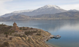 Akdamar Island in autumn Royalty Free Stock Images