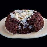 ake Ð ¡与巧克力熔岩 免版税库存照片
