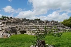 Ake mayan ruins Pyramide culture mexico Yucatan Stock Photo