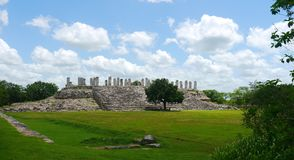 Ake mayan ruins Pyramide culture mexico Yucatan Stock Photography