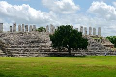 Ake mayan ruins Pyramide culture mexico Yucatan Royalty Free Stock Photo