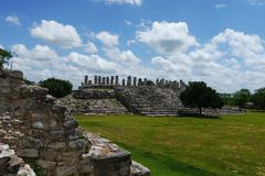 Ake mayan ruins Pyramide culture mexico Yucatan Stock Photos