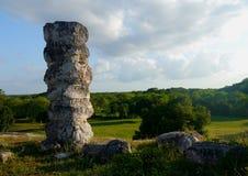 Ake pyramid Maya mexico history culture travel sigtseeing tourism. Stones stock photo