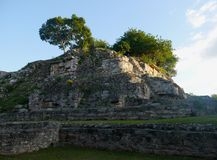 Ake pyramid Maya mexico history culture travel sigtseeing tourism. Stones royalty free stock photos