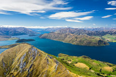 Ake wanaka and Mt Aspiring. New zealand Royalty Free Stock Photo