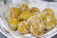 Akehgss糖果,蛋糕天鹅鸡蛋,泰国 免版税库存照片