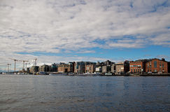 Aker Brygge. Is one of the most beautiful streeet in Oslo Royalty Free Stock Image