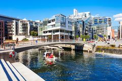 Aker Brygge in Oslo royalty free stock photo