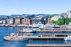 Aker Brygge Oslo Norway Royalty Free Stock Images