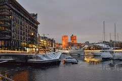 Aker Brygge, Oslo, Norway stock images