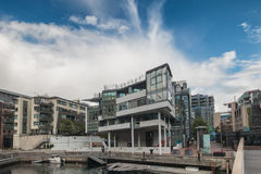 Aker Brygge water front harbor in Oslo Norway Royalty Free Stock Image