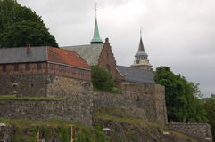 Akerhus Fortress Oslo. Part of Akershus fortress in Oslo stock image