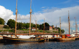 Akerhus fortress in Oslo royalty free stock photo