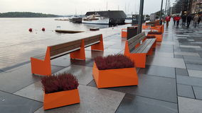 Akers Brygge, Oslo royalty free stock photo